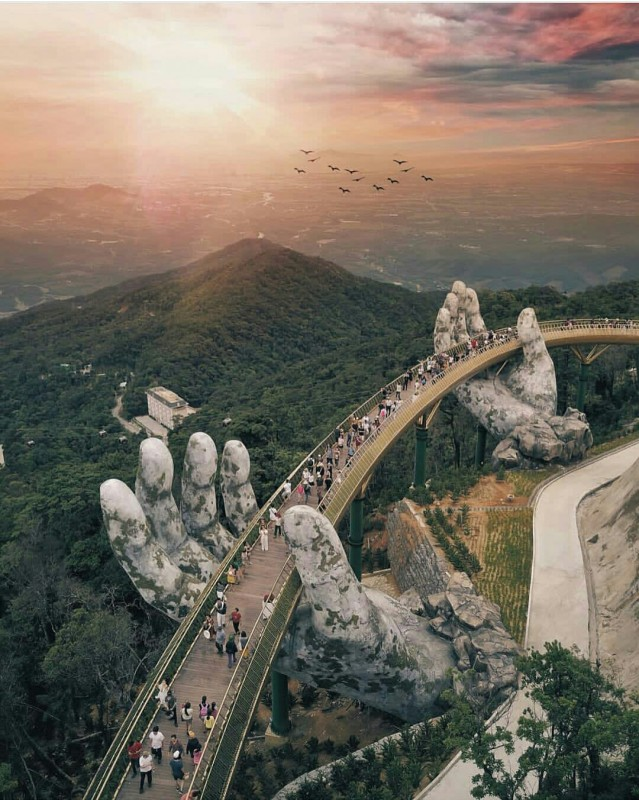 Giant Stone Hands Bridge Da Nang, Vietnam