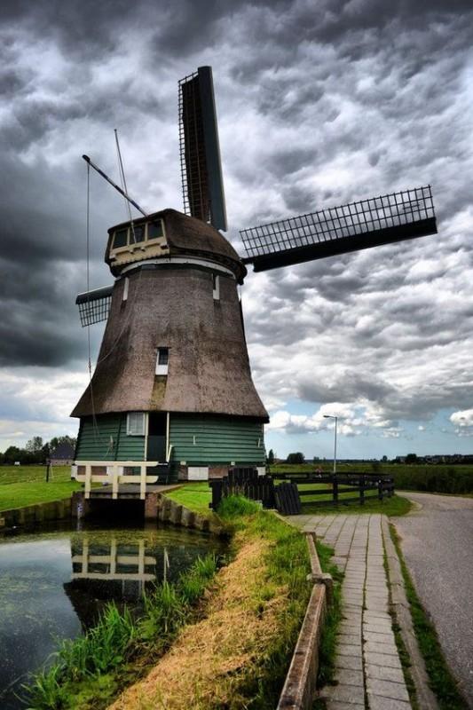 Wind Mill in Volendam, Netherlands