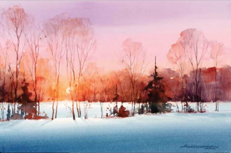 Last Light By Sterling Edwards, Watercolor