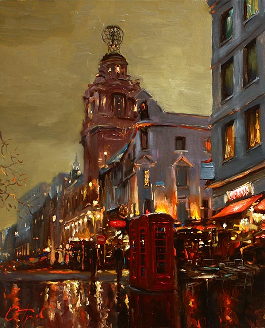 London By Oleg Trofimov, Oil Painting