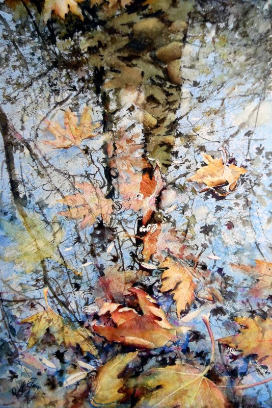 November By Rukiye Garip, Watercolor Painting