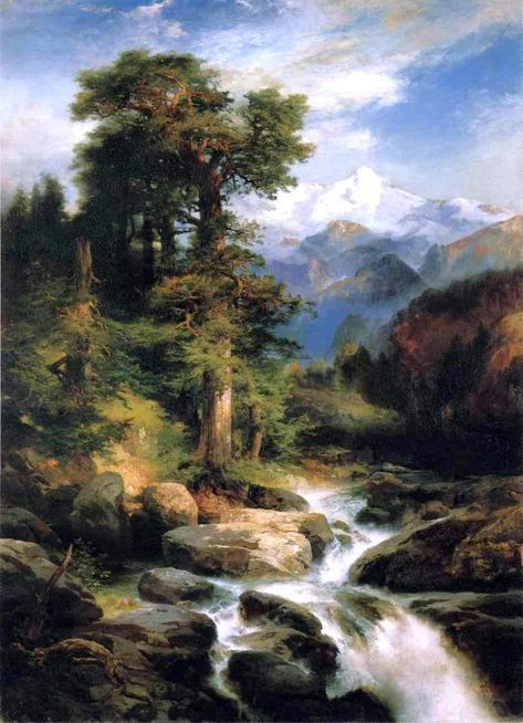 Solitude By Thomas Moran, Oil Painting