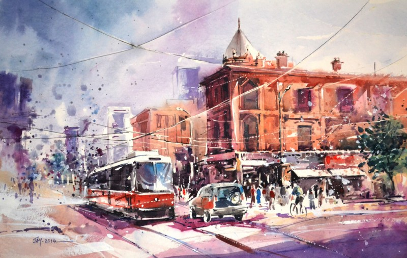Toronto By Jay, Watercolor Painting