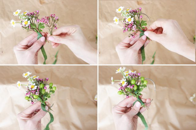 Create Napkin Rings Using Fresh Florals