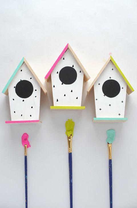 DIY Hand Painted Birdhouses