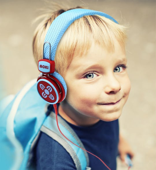 Moki KidSafe Volume Limited Headphones - Blue & Red