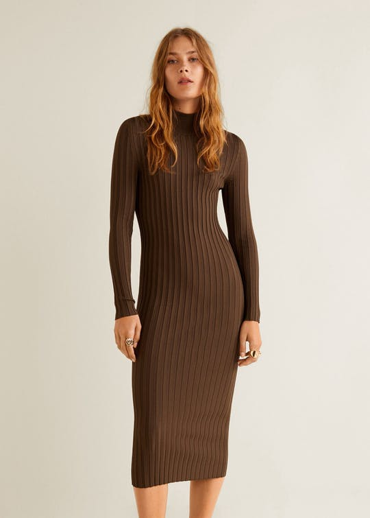 Turtle Neck Dress By Mango