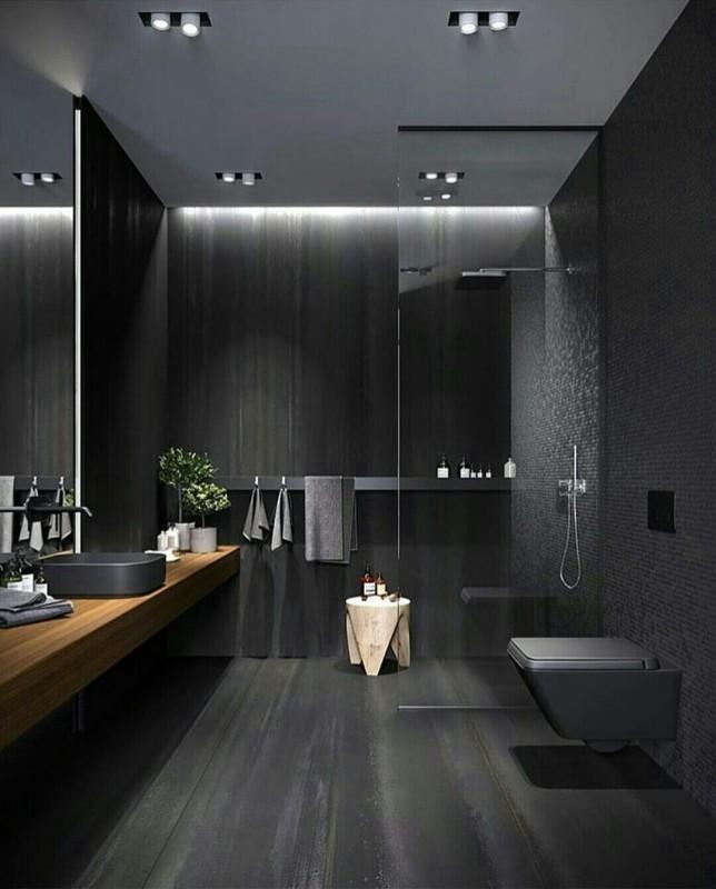Black Bathroom Home Decoration