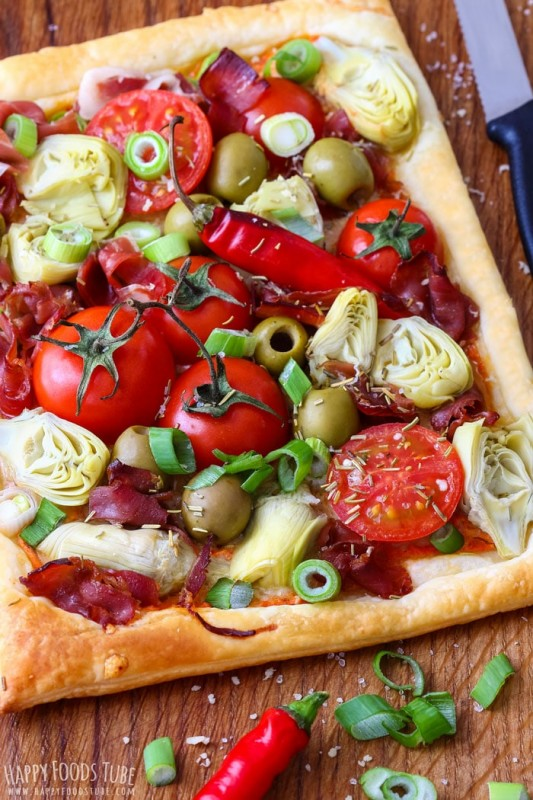 Artichoke Tart with Prosciutto and Spring Onion
