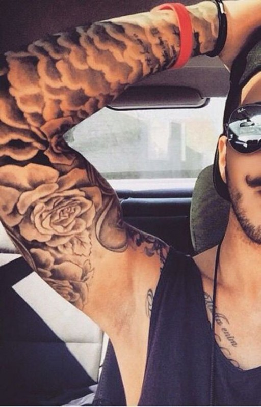 Cloud Sleeve Men Tattoo