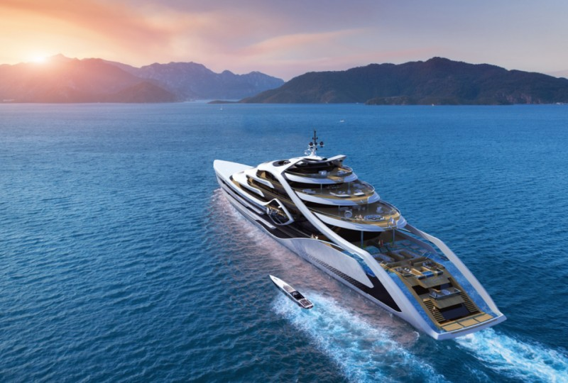 574-Foot-Long Superyacht Design Concept Features Radical Hydrogen Propulsion