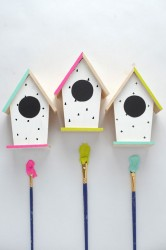 DIY Hand Painted Birdhouses