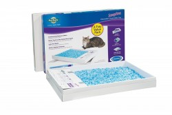 PetSafe ScoopFree Self-Cleaning Cat Litter Box Tray Refills, Non-Clumping Crystal Cat Litter, 3-Pack
