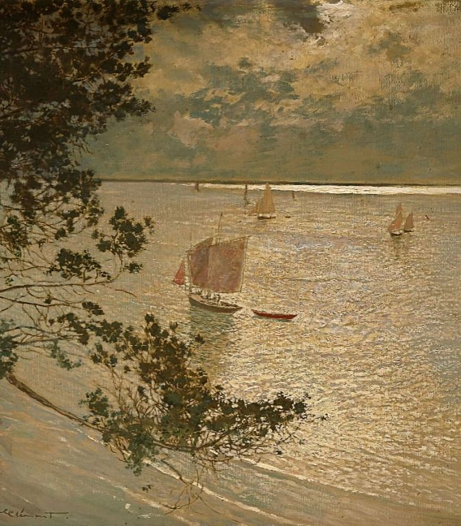 Le Dernier Rayon By Amédée-Julien Marcel-Clément, Oil Painting