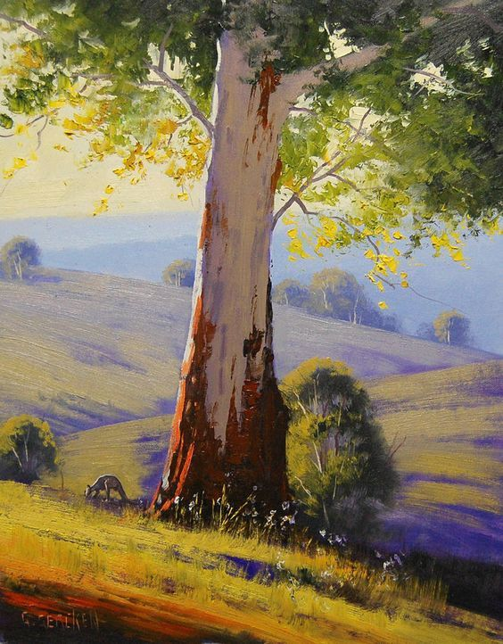 Summer Morning Australia by Artsaus, Oil Painting