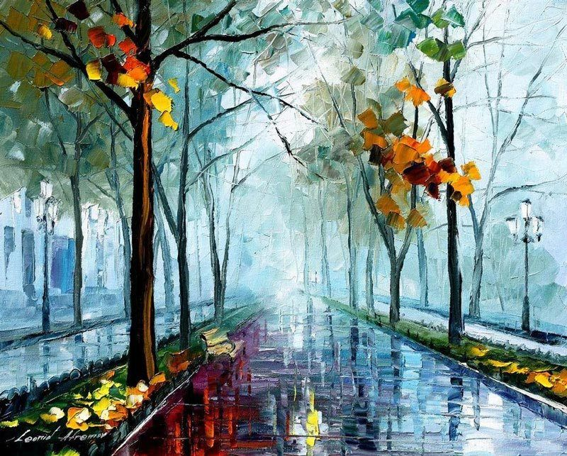 Rainy Day By Leonid Afremov, Oil Painting