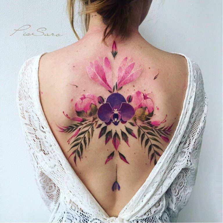 Flower Tattoo by Pis Saro