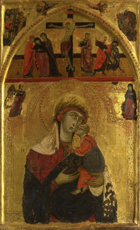 The Virgin and Child By Master Of The Clarisse