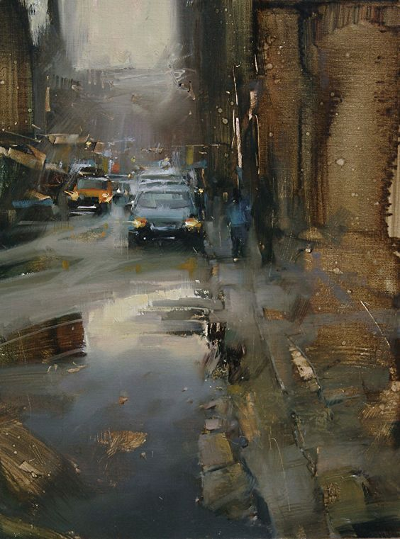 Down The Street By Tibor Nagy, Oil Painting