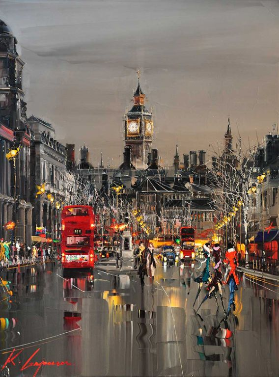 London by Kal Gajoum, Oil Painting