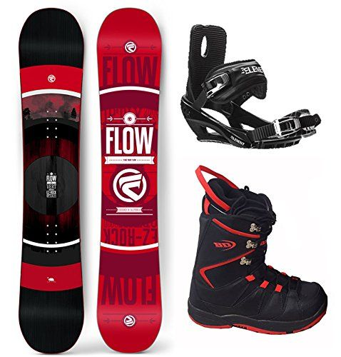 Flow 2019 Vert 158 Wide Men's Complete Snowboard Package