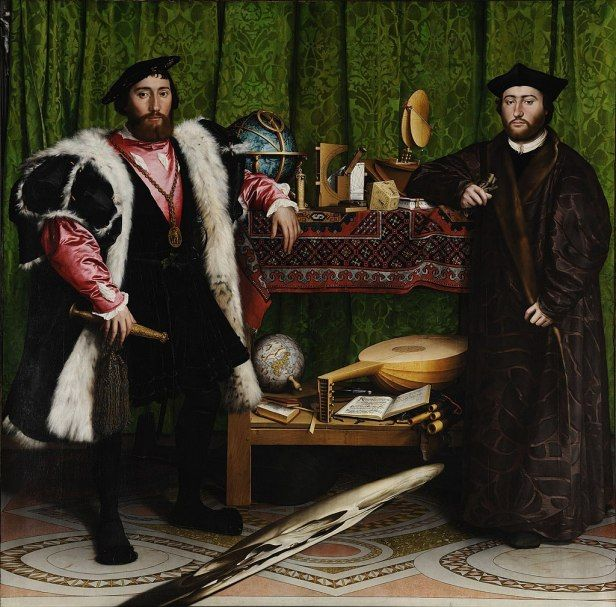 The Ambassadors By Hans Holbein the Younger, Oil Painting
