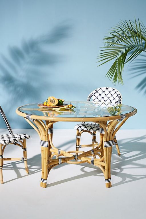 Rattan Indoor/Outdoor Bistro Table