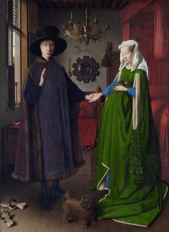Arnolfini Portrait By Jan van Eyck, Oil Painting