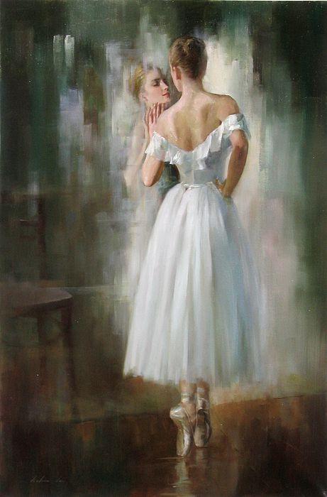 Ballerina By Kelvin Lei, Oil Painting