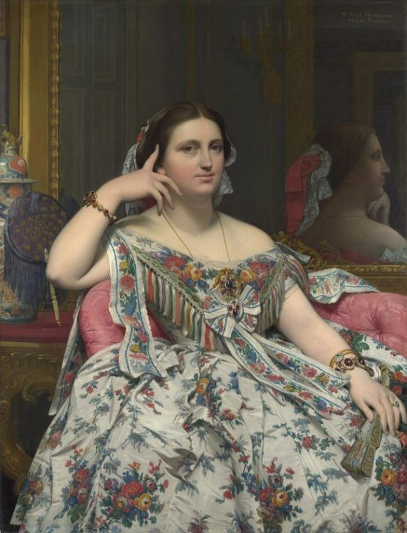 Madame Moitessier By Jean-Auguste-Dominique Ingres, Oil Painting