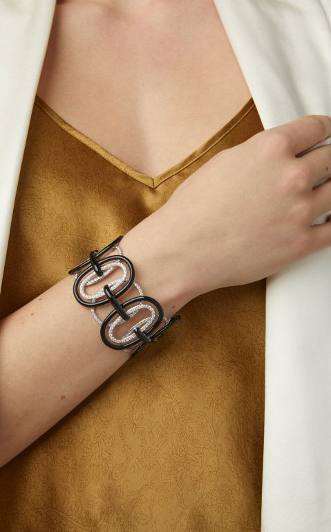 Sabbadini White Gold, Bronze And Diamond Bracelet