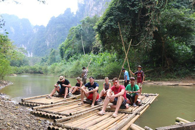Khao Sok: Full-Day Bamboo Rafting and Elephant Bathing