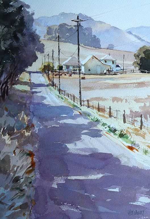 Land Route By Mike Kowalski, Watercolor Painting