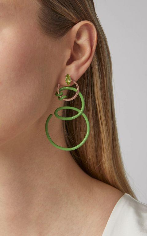 Bea Bongiasca Double Curl Vine Earrings