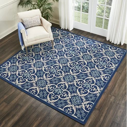 Liseron Navy Indoor - Outdoor Area Rug