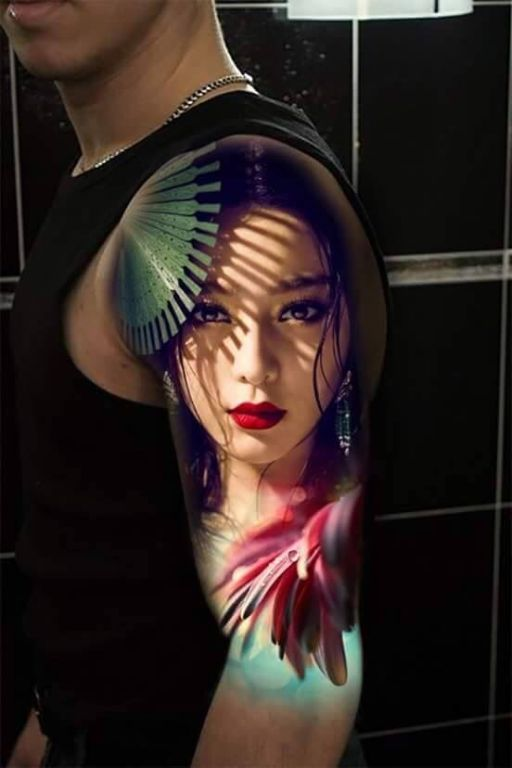 Geisha Tattoo For Arm