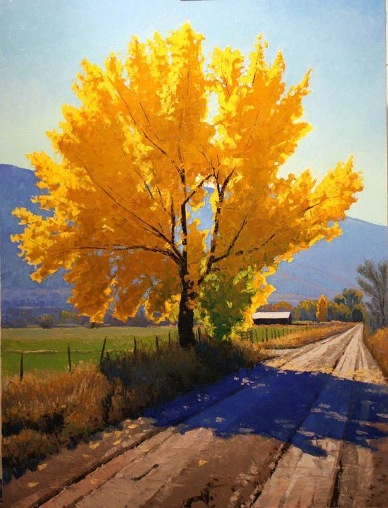 Cottonwood Tree By Kane Johnson, Oil Painting
